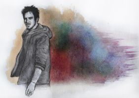 Adam Gontier Watercolour #1 by baileyray