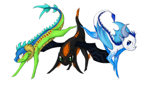 WILD DRAGONS appeared! -PC- by miaowstic