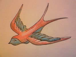 swallow design 4 by sugarskull-tattoos
