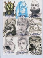 Star Wars Galactic Files series 2 sketch cards 11 by DarklighterDigital
