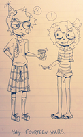 Me and Human Eridan by GUTS-and-GLUCOSE