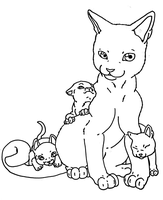 Base: with the kittens by Midnightflaze