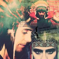 Jared Leto in headdress by xloonyx