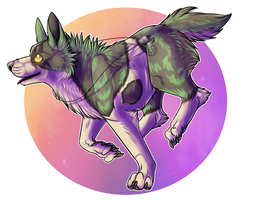 New Years Gift Exchange: .: Firework Galaxy :. by SillyTheWolf
