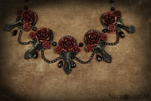 Vampire's Requiem Collar Red by Necrosarium