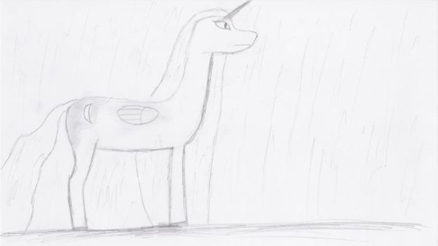 Luna Standing in the Rain by Yay295