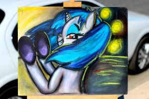 Vinyl Scratch Pastel Painting by OstiChristian