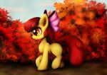 Apple bloom and autumn leafs by Rameslack