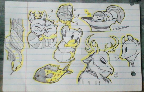 Doodles #2  by Rougeprincess897