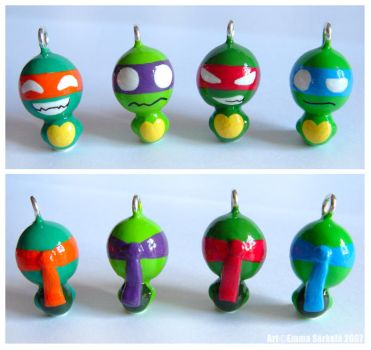 TMNT charms by ZombiDJ