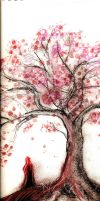 Charcoal and Bubblegum Tree by Deeir