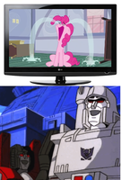 Megatron And Starscream React To Pinkie Pie Crying by marc123456789