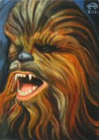 CHEWBACCA OIL PAINTED PSC by AHochrein2010