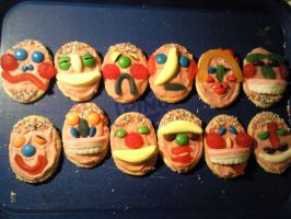 Humorous Heads biscuits by inner-etch