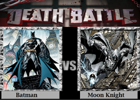 The Crazies come at night: Batman v Moon Knight by TheWickedAvatar1