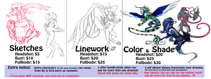 Commission Prices CURRENT by WellHidden