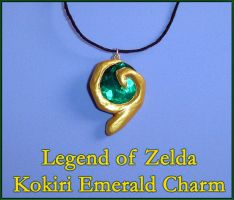 Zelda - Kokiri Emerald Charm by YellerCrakka