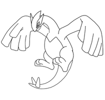 Free Lugia Template by BehindClosedEyes00