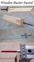 Clouds Wooden Buster Sword by PulseDragon