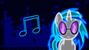 Neon Vinyl Scratch Wallpaper by ZantyARZ