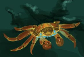 Speedpaint: crab by mouseymachinations