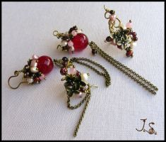Cherry blossoms set by JSjewelry