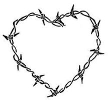 Barbed wire heart tattoo by Lisamahphone