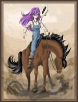 Cowgirl on Horse by madelief