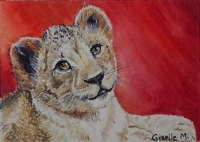Baby Barbary lion by Giselle-M