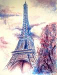 The Eiffel Tower in rainy day by AdmirerOfLife
