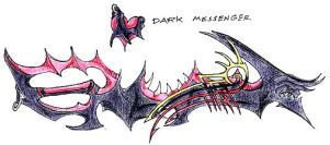 Dark Messenger Keyblade by Naorui