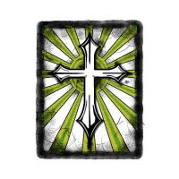 Green White Cross by ca-booth