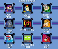 MegaMan the FA Stage select 2 by megalucanus