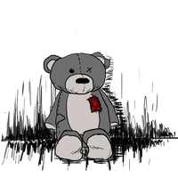 depressed bear by InnocentThora