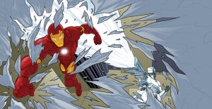 Iron Man Deep Freeze pgs 10-11 by MBorkowski