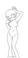 Base: female sonic pose by debsie911