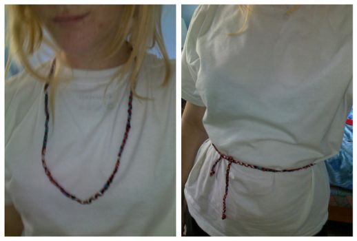 skinny fabric necklace by amyyy-xD