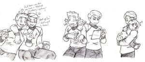 Jim and Bones Doodles by NekoHellAngel