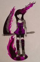The Girl of Purple Flames by SoulEaterGurl