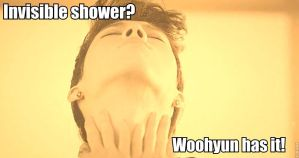 Woohyun's Invisible Shower by Mari--Chan