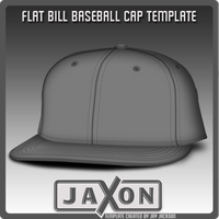 Flat Bill Cap Template by JayJaxon