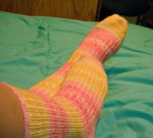 2 at a time toe up socks by SinePerrell