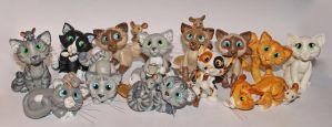 All my kitties by melinaminotti