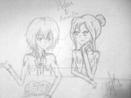 Helen and Armin {Contest entry No1} by ReinaChan22