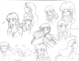 Zelda-Skyward Sword Sketches by OwlLisa