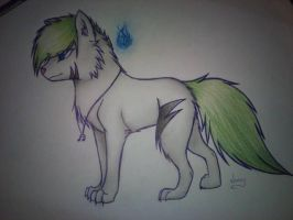 Ghost Note (wolf) by TheLivingNote
