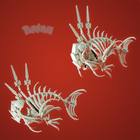 Commission 2/3: Magikarp Skeleton by retinence