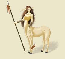 Centaur Girl Colored by Exart