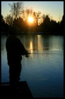 Fishing In Silhouette I by bcdirector