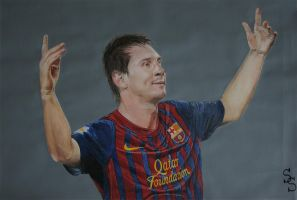 Lionel Messi by SSDrawings